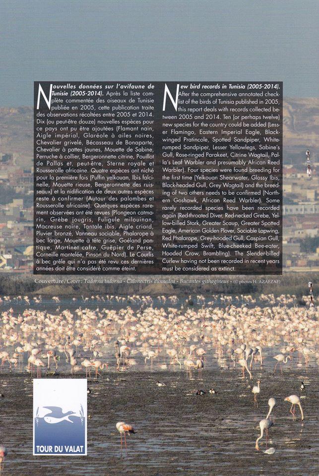New bird records in Tunisia (2005-2014).